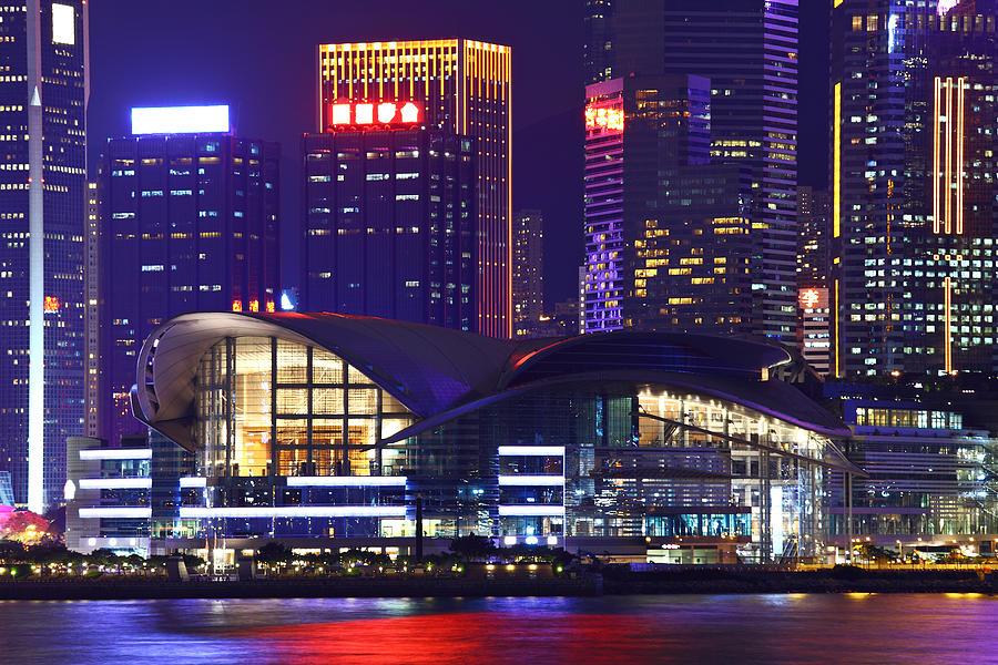 Hong Kong Island At Night Photograph by Ngkaki