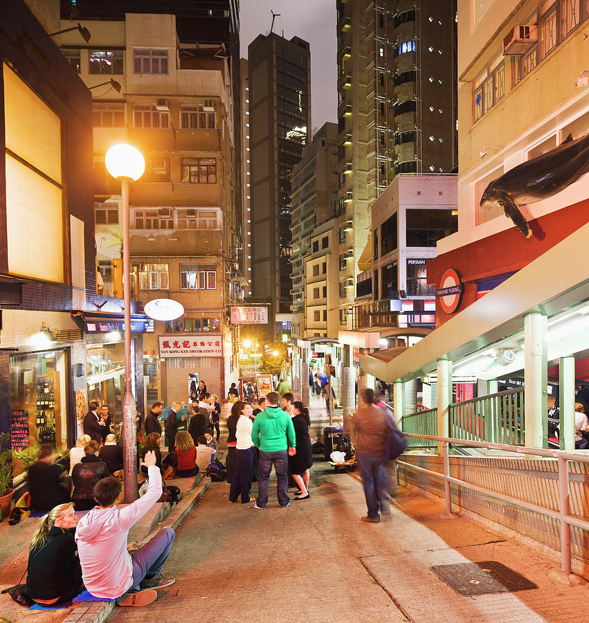 Hong Kong Island, Central, Nightlife In Photograph by Maremagnum