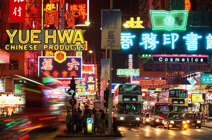 Hong Kong, Kowloon, Temple Street Photograph by Walter Bibikow