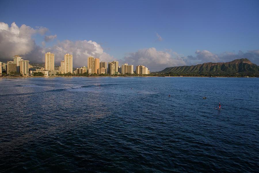 Honolulu Skyline And Diamond Head Photograph by Royce Bair