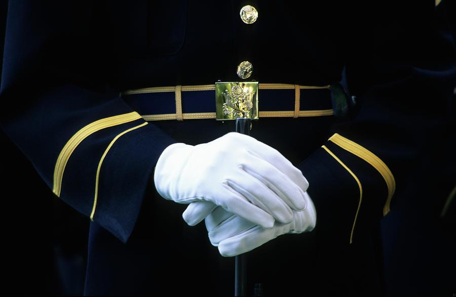 Honor Guard Holding Rifle, Arlington Photograph by Hisham Ibrahim