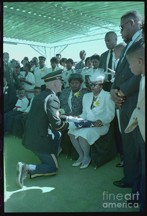 Honor Guard Presenting Flag To Woman Photograph by Bettmann