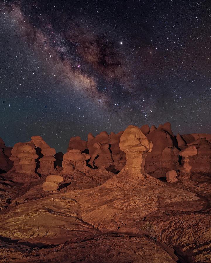 Hoodoos Under the Milky Way by Hal Mitzenmacher