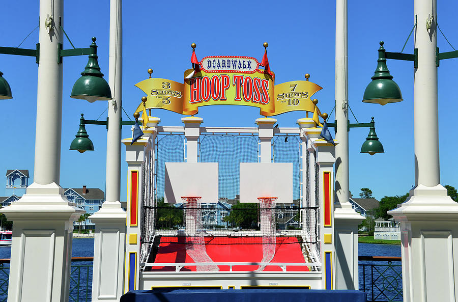 Hoops Toss game Disney's Boardwalk by David Lee Thompson