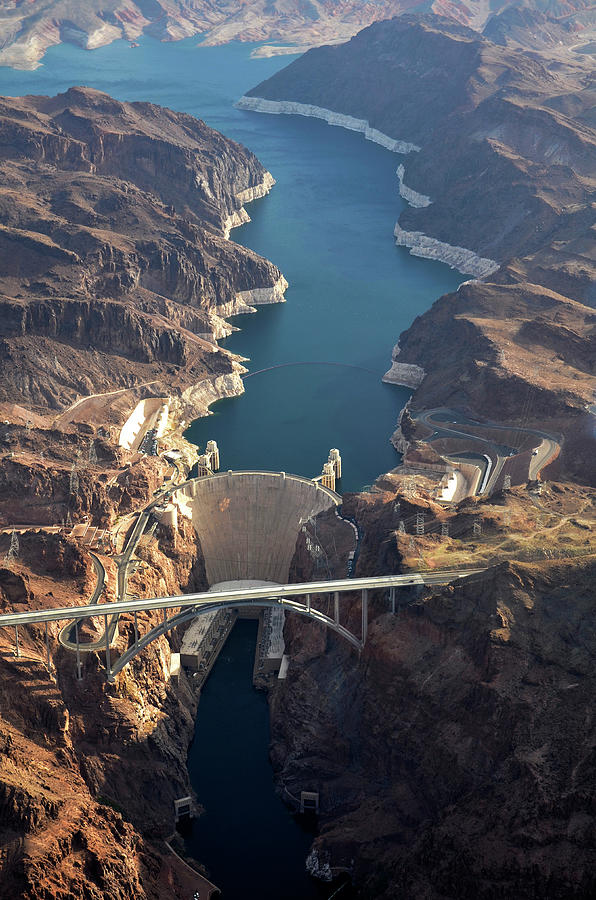Hoover Dam Aerial Photograph by Iwcrabbe