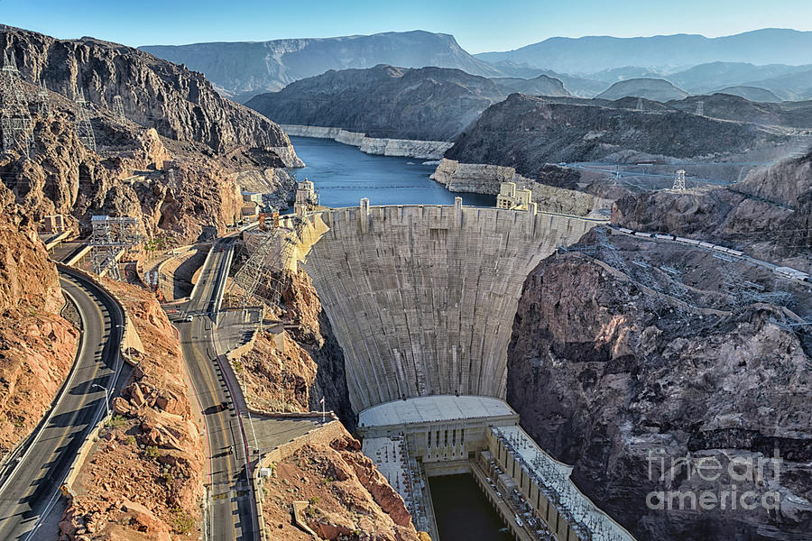 Hoover Dam Photograph - Hoover Dam In The Morning by Norman Gabitzsch