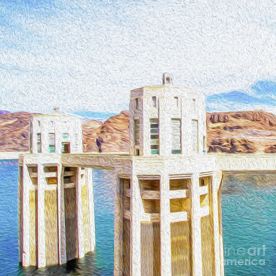 Hoover Dam Rendition I Digital Art by Kenneth Montgomery