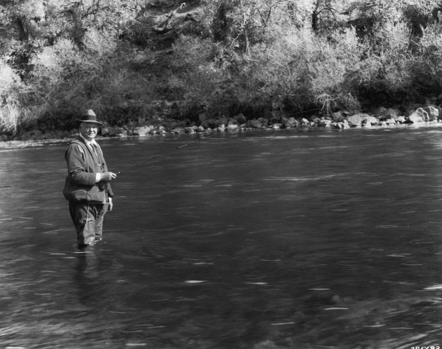 Hoover Fishing Photograph by Mpi