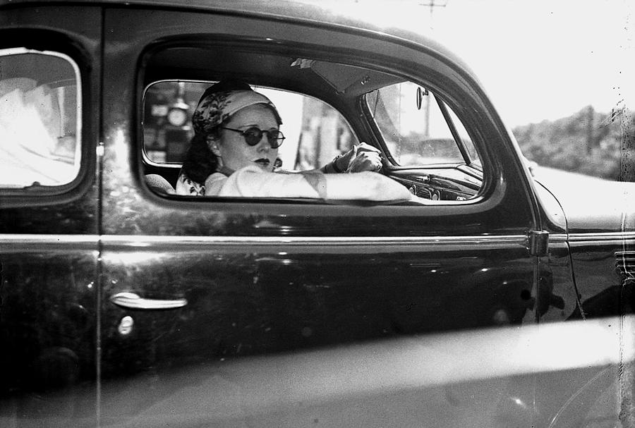 Hope Dare Looks Out Car Window As She Photograph by New York Daily News Archive