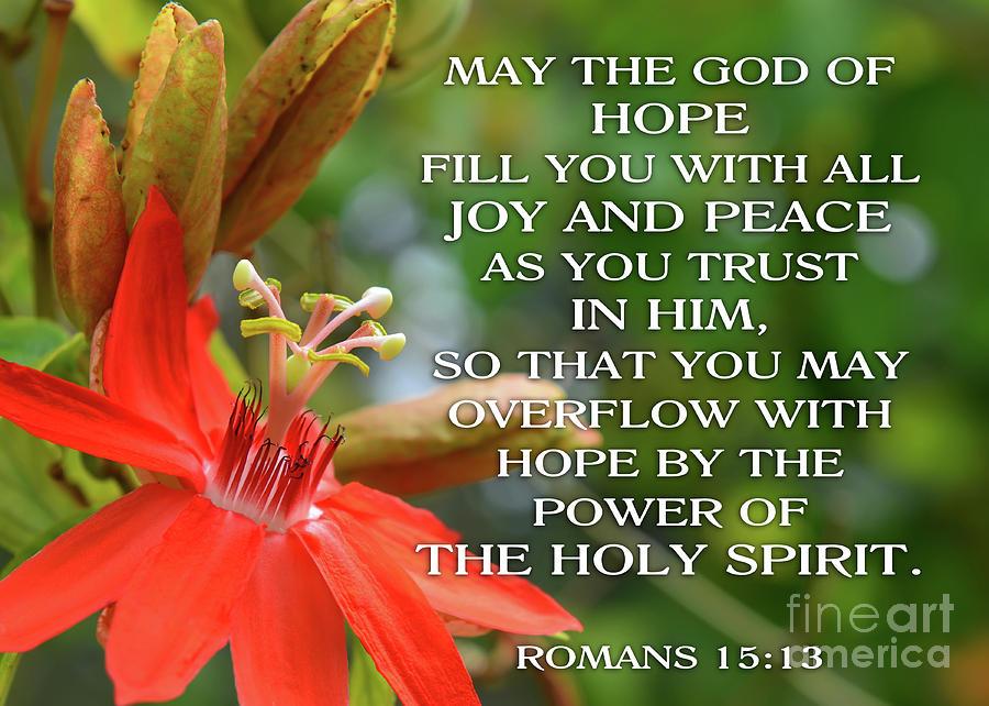 Hope Joy Peace by Olga Hamilton