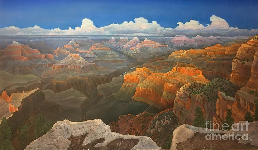 Arizona Painting - Hopi Point Vista II by Jerry Bokowski