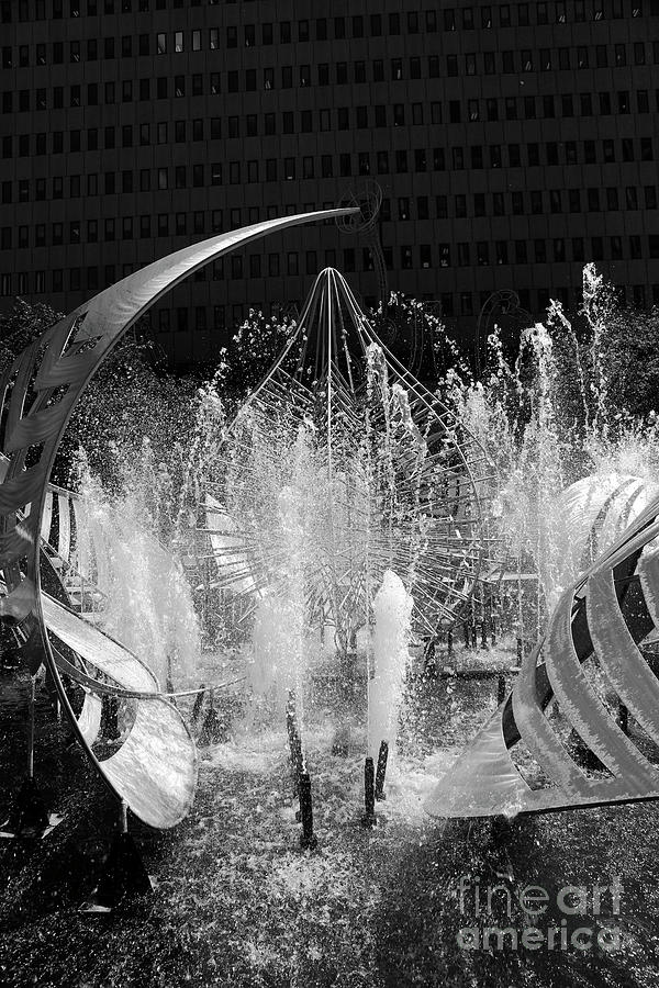 Hopkins Plaza Fountain Detail Baltimore by James Brunker