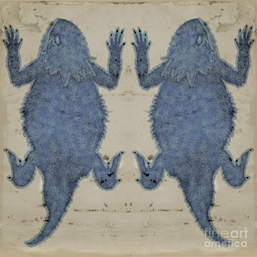 Horny Toad Blue by Priscilla Wolfe
