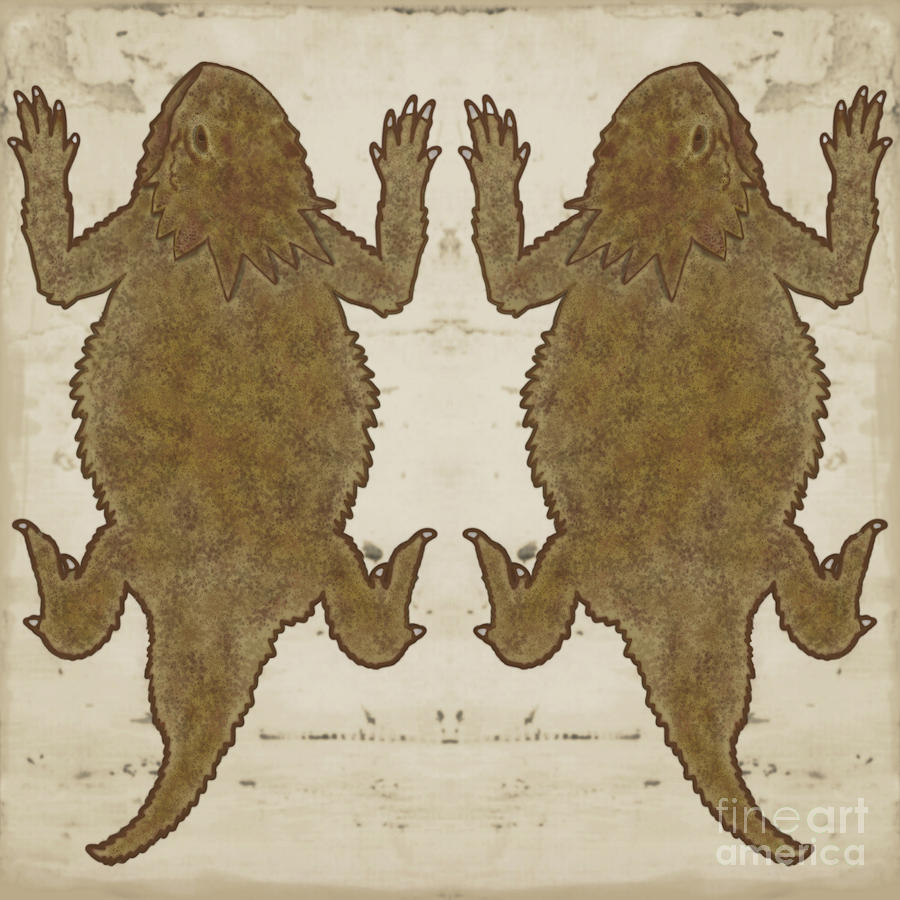 Horny Toads Brown by Priscilla Wolfe