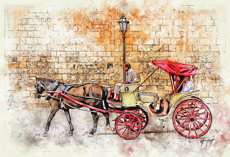 Horse and Cart by Mauro Celotti