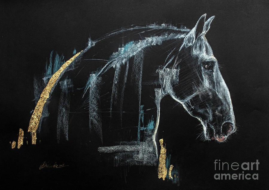 Horse Pastel - Horse Head 2019 04 02 by Angel Ciesniarska