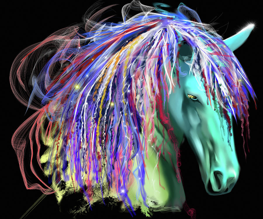 Horse Head Painting - Horse Head by Stephanie Analah
