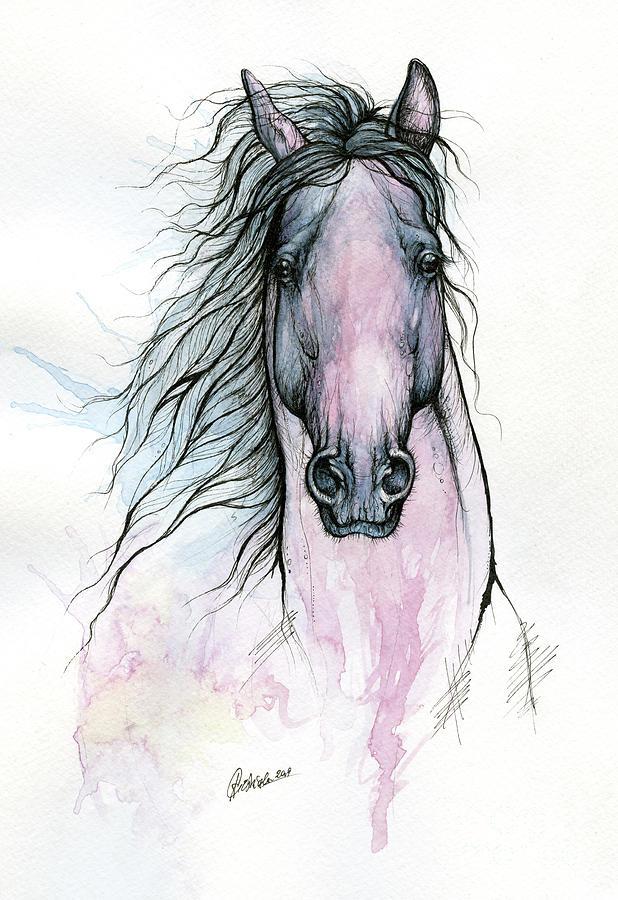Horse ink art 2019 10 19 by Angel Ciesniarska