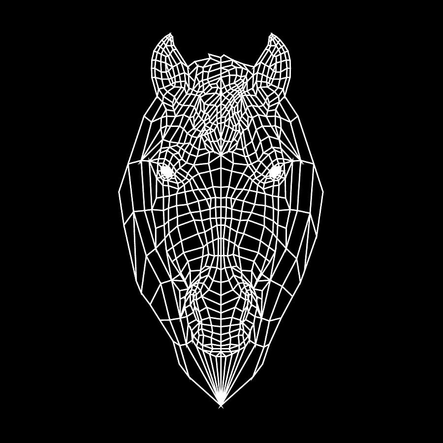 Horse Digital Art - Horse Mesh by Naxart Studio