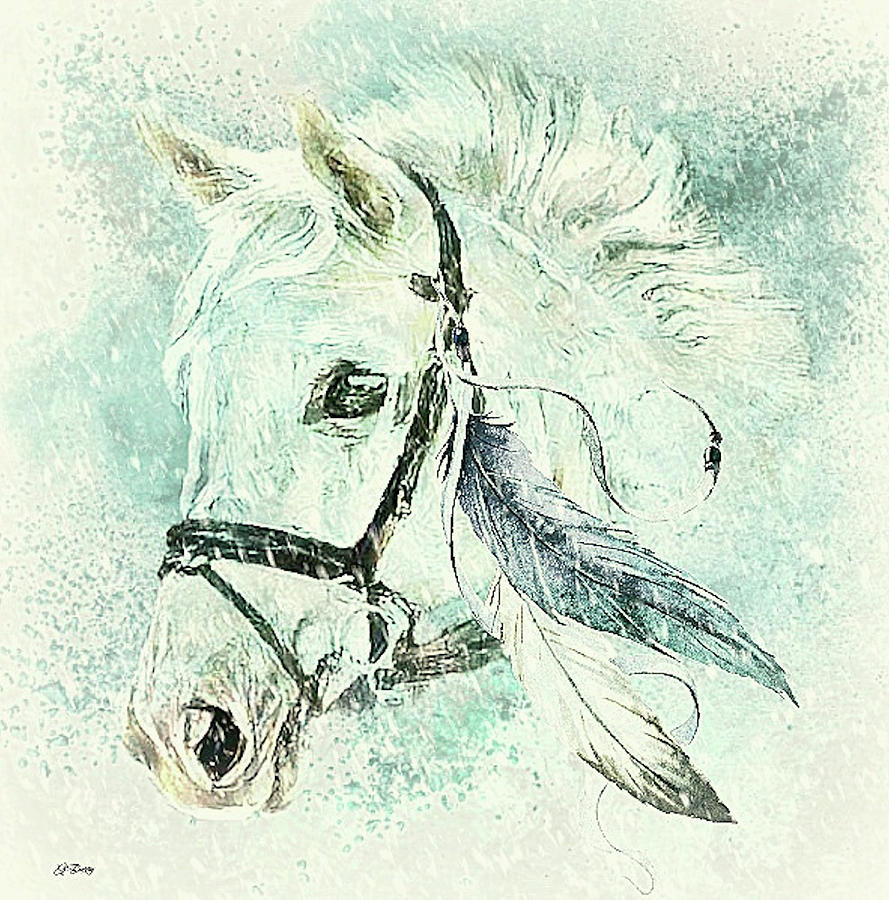 Colt Mixed Media - Horse Named Shiver by G Berry
