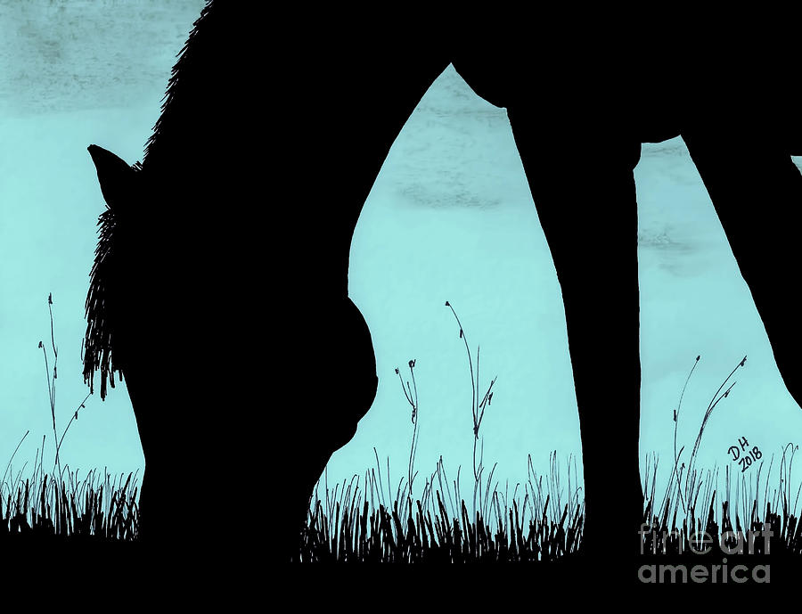 Horse Silhouette by D Hackett