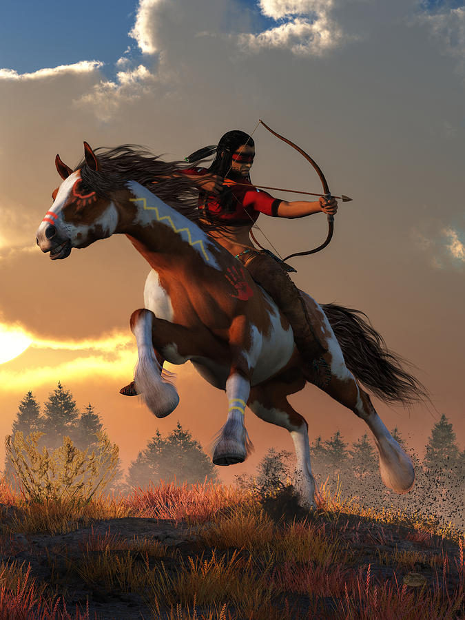 Horseback Archer at Dawn  by Daniel Eskridge