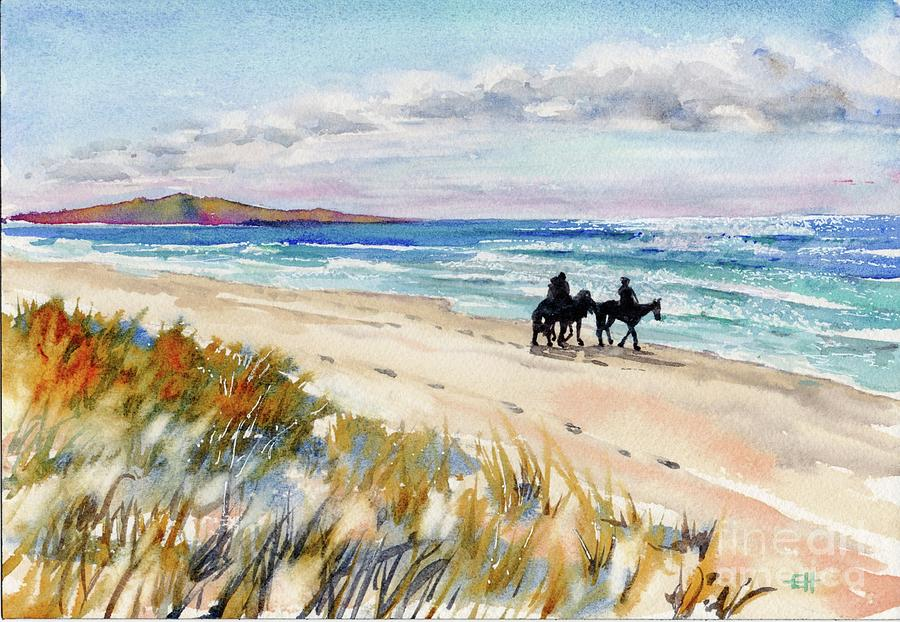 HorseRiding on Noosa North Shore by Chris Hobel