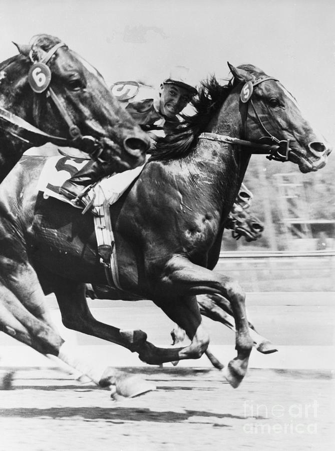 Horses Competing In Race Photograph by Bettmann