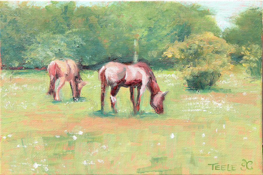 Horses in the Fields by Trina Teele