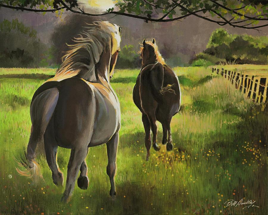 Horses Running Wild by Bill Dunkley