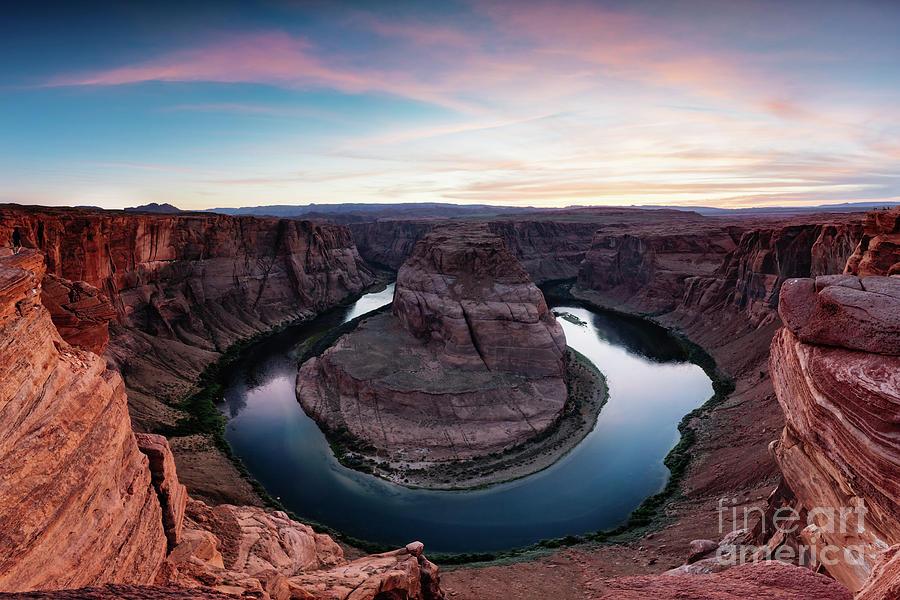 Horseshoe bend at sunset, Arizona, USA by Matteo Colombo