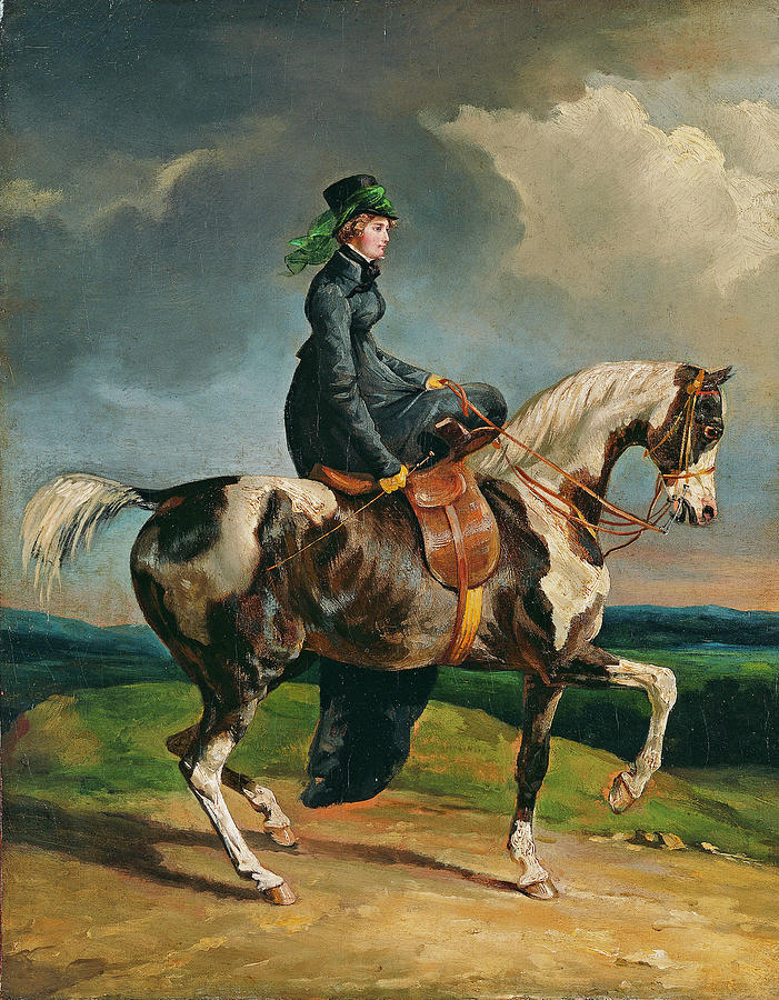 Horsewoman  by Theodore Gericault