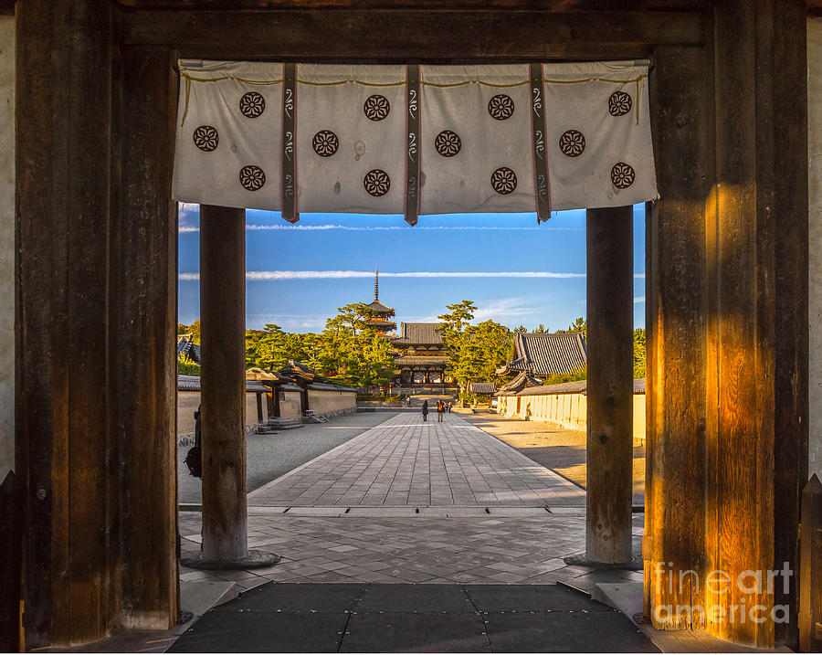 Religious Photograph - Horyu-ji Temple In Nara, Unesco World by Luciano Mortula - Lgm