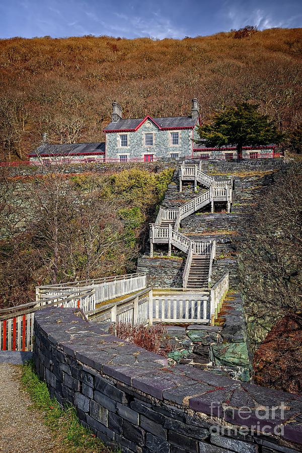 Hospital Steps at Llanberis Quarry  by Adrian Evans