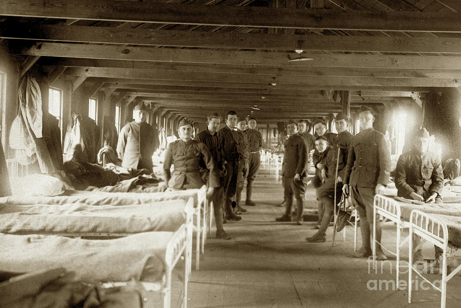 Hospital Ward BASE HOSPITAL 34  Nantes, France  Circa 1918 by California Views Archives Mr Pat Hathaway Archives