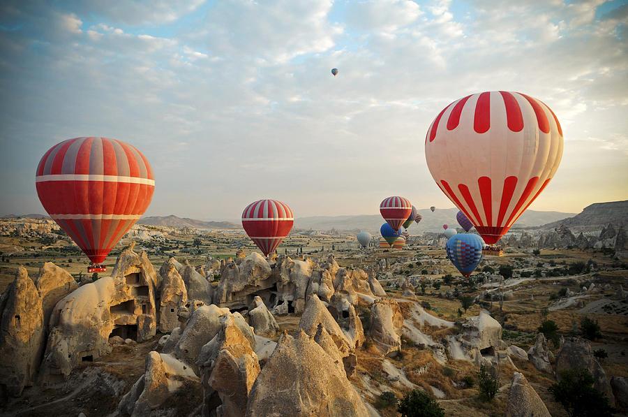 Hot Air Ballons Of Cappadocia Photograph by 1001nights