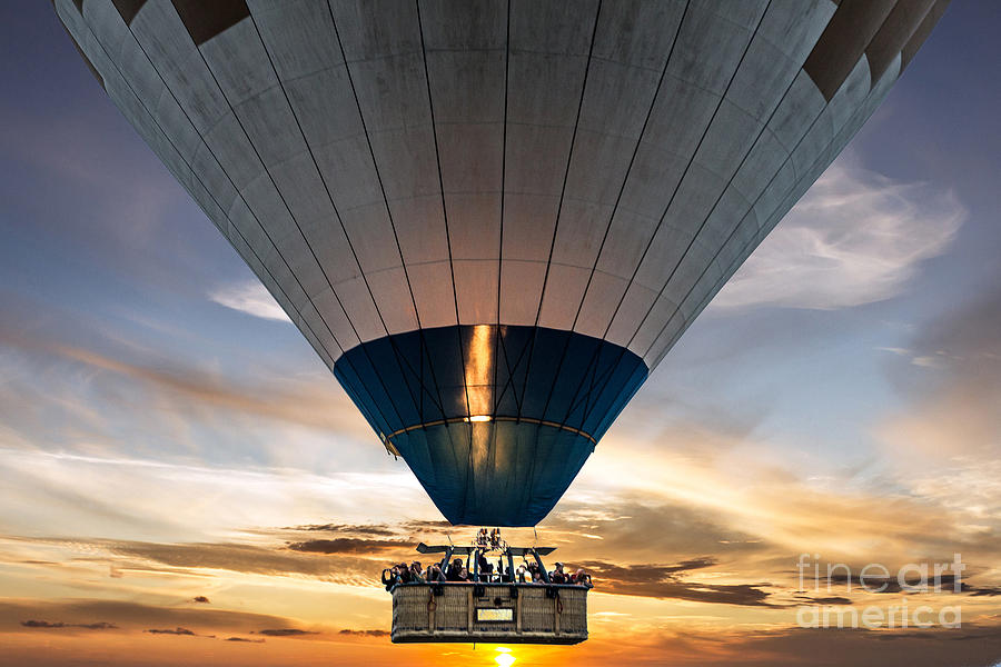 Kapadokya Photograph - Hot Air Balloon In The Sky by Vlada Zhi