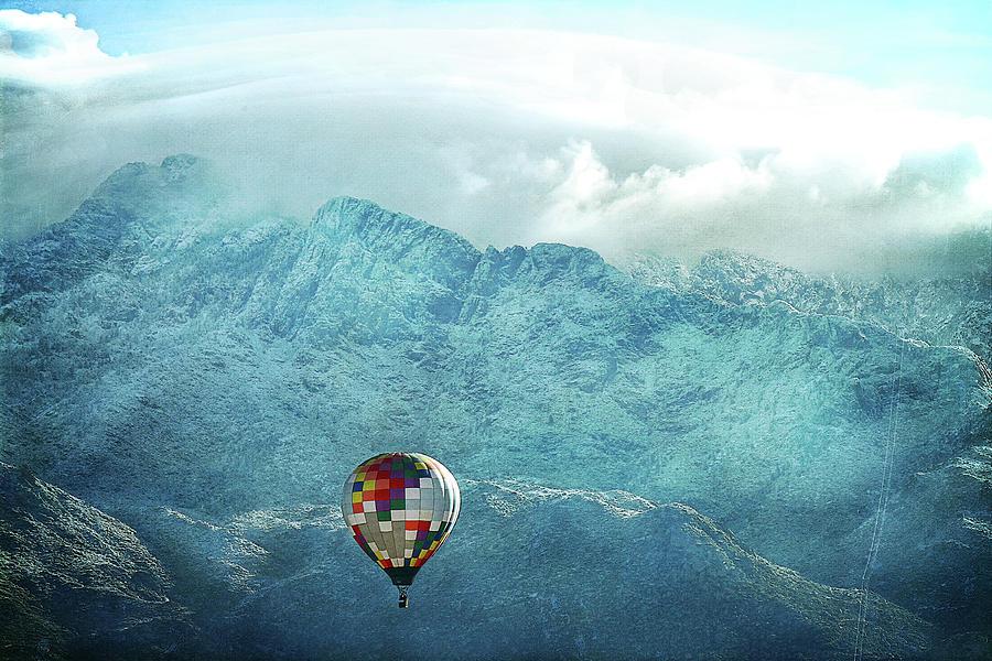 Hot Air Balloon Mountain Snow Photograph by Cgander Photography