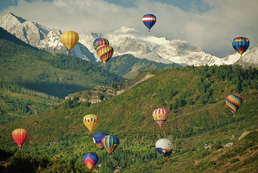 Hot Air Balloon Ride Over Snowmass Photograph by Robin Wilson Photography