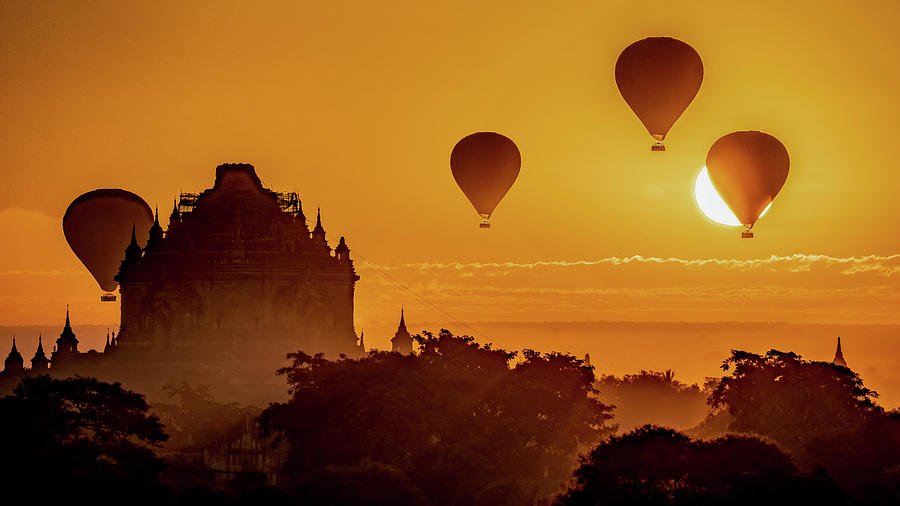 Hot Air Balloons At Sunrise by Chris Lord