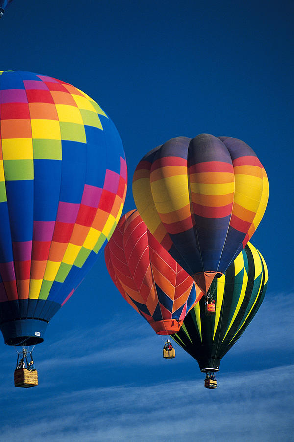 Hot Air Balloons Photograph by Comstock