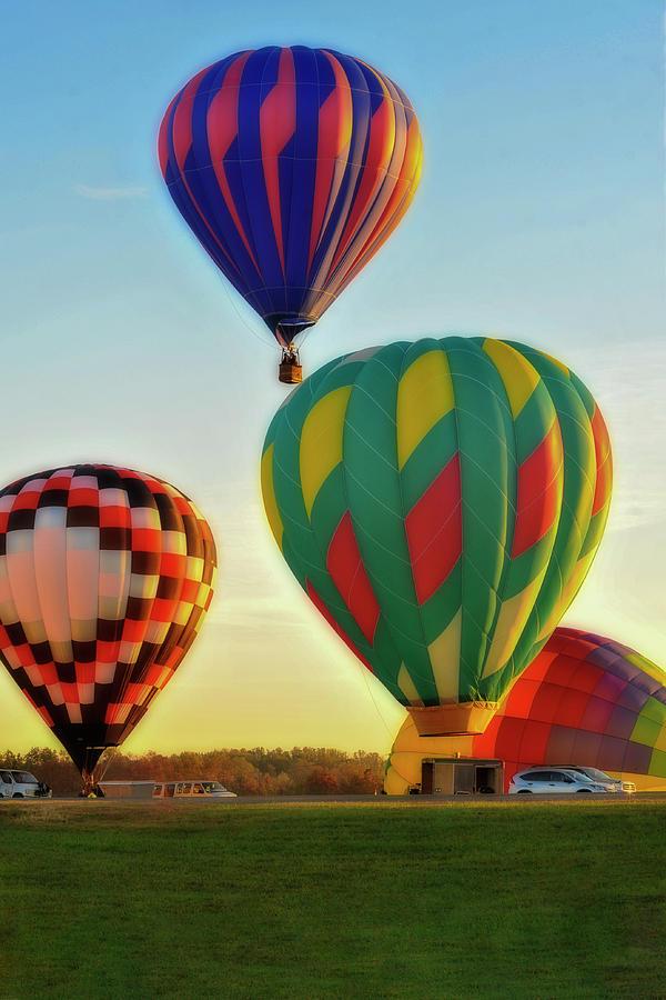 Hot Air Balloons Morgantown lift off by Dan Friend