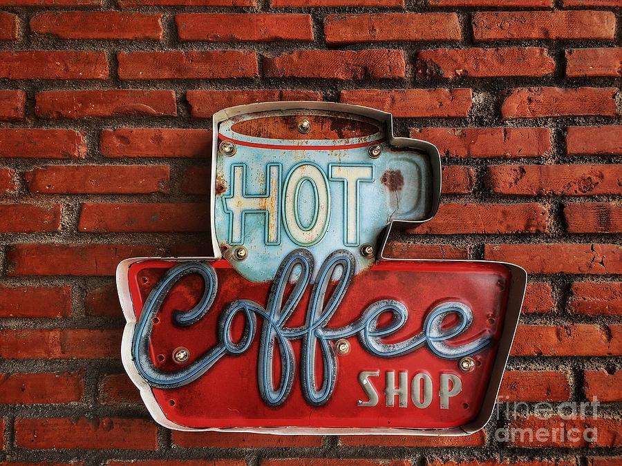 66 Photograph - Hot Coffee Shop Vintage by 26april