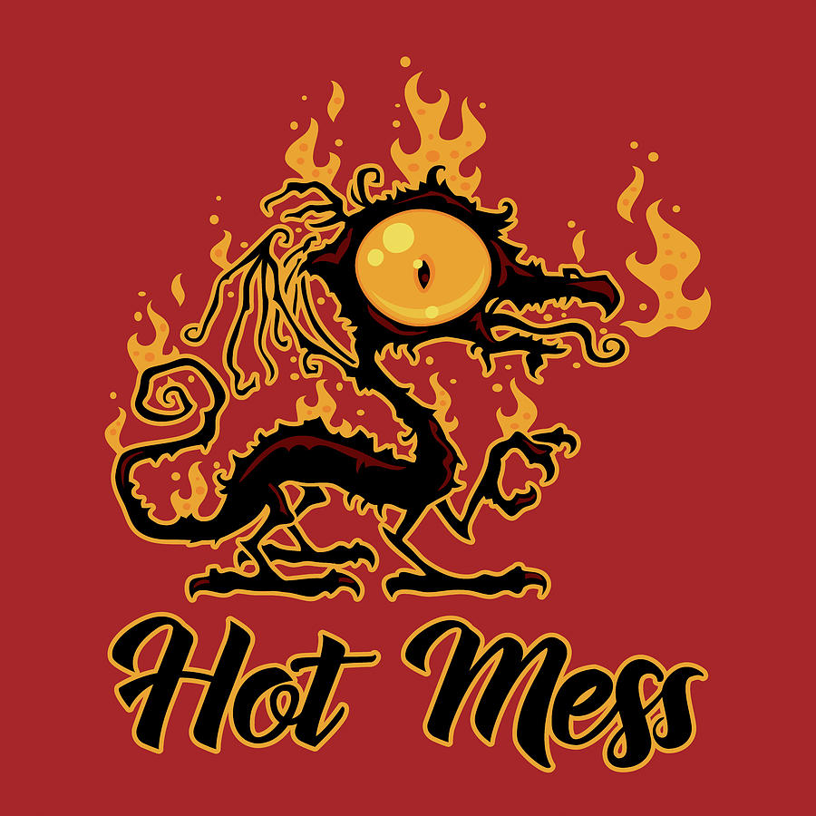 Hot Mess Crispy Dragon Digital Art