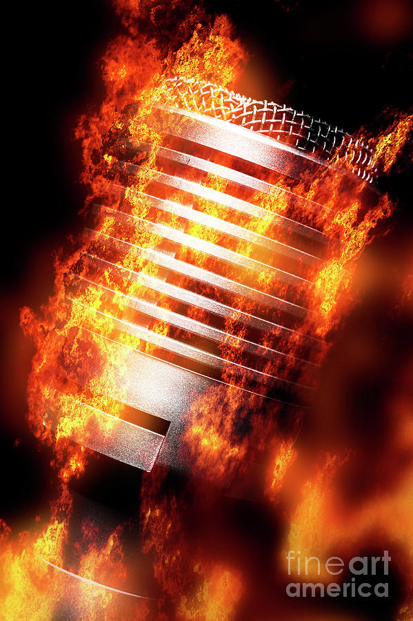 Microphone Photograph - Hot Mic by Jorgo Photography - Wall Art Gallery