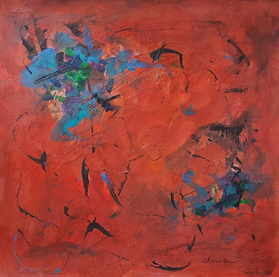 Abstract Mixed Media - Hot Notes by Ellen Kirwan