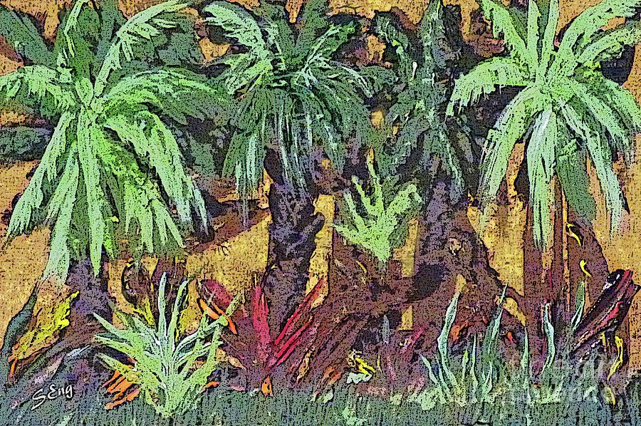 Hot Tropics Mixed Media