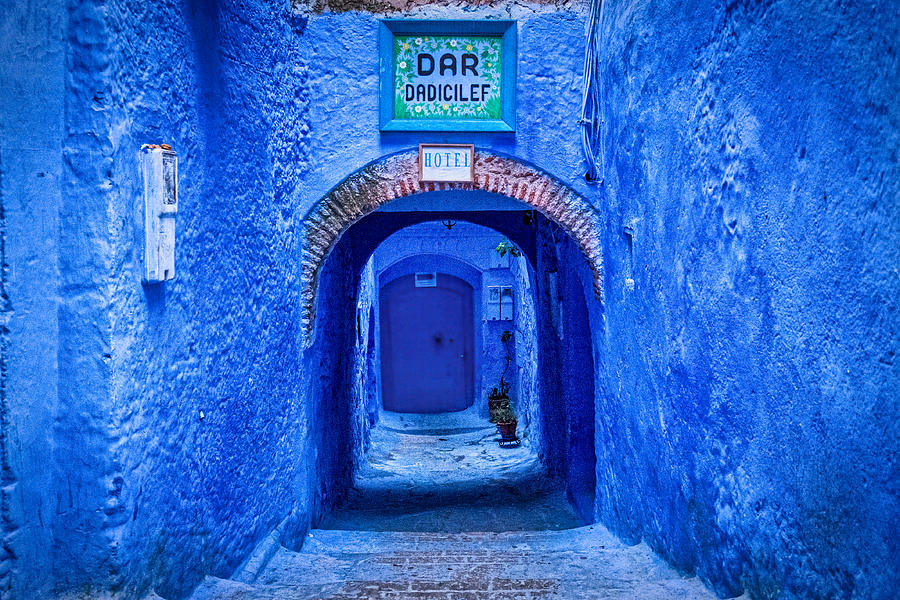 Hotel Entrance - Chefchaouen - Morocco by Stuart Litoff