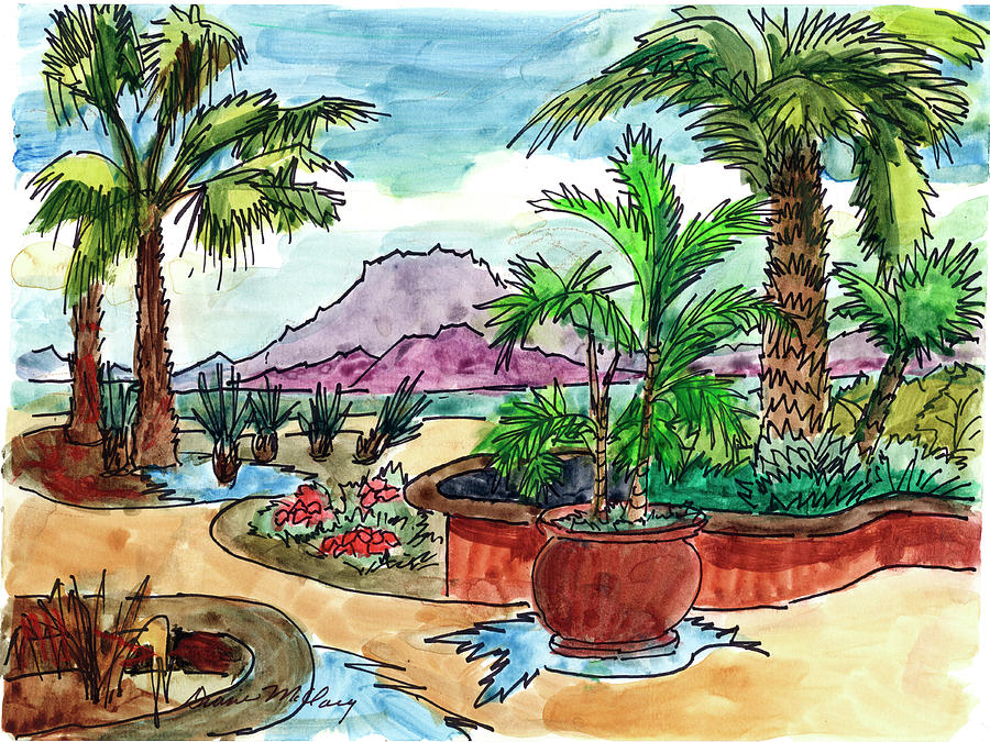 Hotel Grounds Loreto Bay Mexico by Diane McClary