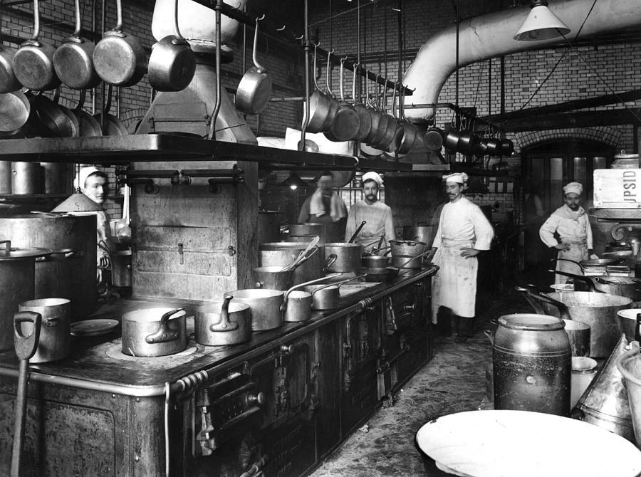 Hotel Kitchen Photograph by Rischgitz
